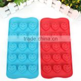 15 Cavity Heart Shape Smiley Face Silicone Cake Mould Chocolate Mould Soap mould For Barking Tools