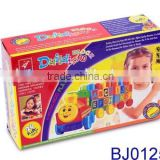 Wholesale plastic kids toy funny carton block intelligent building brick train