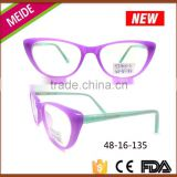 Special hot selling girls cat eye glasses frames for baby kids