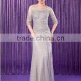 Everning Dress Party dress Trumpet/Mermaid Scoop Neck Floor-Length Chiffon Tulle Mother of the Bride Dress With Beading Sequins