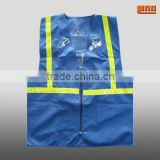blue high visibility reflective safety vest