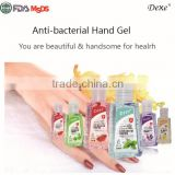 high quality hand disinfectant gel antiseptic Hot top sale Dexe 2016 of hand gel sanitizer