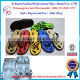 Fashionable man EVA sole and PVC shoe strap mould maker in China for sale, V flip flop slipper mould