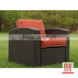 top quality and best sale PE Rattan Hotel chair /Patio Rattan Armchair/wholesale PE rattan basket chair