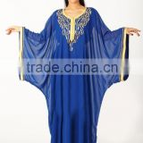New Arrival Islamic embroidered Dresses for Women,Jalabiya, Abaya,islamic gown ,bridal dress,muslim kaftan