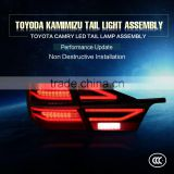 2016 new product car accessories modified red led tail light assembly for toyota CAMRY car body kit rear lamp