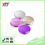 5000mAh round mirror Power Bank for lady gift powerbanks phone charger