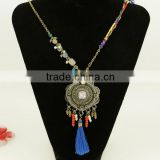 2016 artificial gold long chain imitation gold charm necklaces YIwu factory jewellery