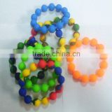 BPA free & Food grade silicone micro link beads,silicone beads wristband,fashion silicone beads