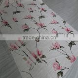 Wholesale hometextile printed linen mixed blackout curtain fabric for baby room
