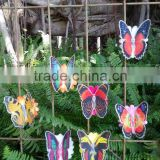 Popular Plastic Fiber Butterfly With Clip Homer Decoration