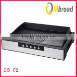 Electric Digital Temperature Control Removable Ribbed and Flat Plate Plancha Grill with Cord Wrap
