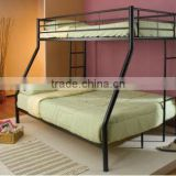 Twin Over Full Silver Metal Loft Bunk Bed Dorm
