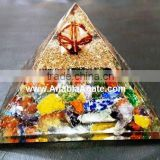 Orgone Chakra Pyramid With crystal Merkaba Star : Wholesale Orgonite Pyramid With Merkaba Star : Orgone Products