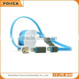 2 in 1 Best Selling High Speed retractable cord reel micro usb charging data cable made in china