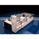 Luxury Jewelry Glass Displays Sets Elegant Jewelry Window Showcase Mall Led Watch Kiosk For Sale