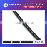 Black corrugated surface vulcanized rubber hose r2at