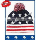 OEM new product Wholesale china manufacture CUSTOM LOGO winter women and men flag acrylic beanie hat and cap