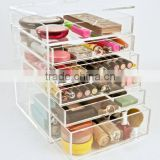 Wholesale Custom 7 Tier Clear Acrylic Makeup Cosmetic Organizer