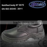 NMSAFETY CE black heavy-duty anti-impact industrial mining safety shoes hot sales boots