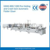 GDHH pre-folding and bottom lock box three point automatic folder gluer machine