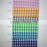 linen cotton blended yarn dyed woven shirt fabric/ gingham