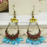 Fashion New Bohemia Style Colorful Teardrop Beads Women's Alloy Earring
