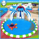 Giant outdoor pool slides for inflatable water park slide