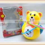 ring toss game, plastic cute bear tumbler,toy roly-poly