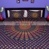 Indian Mandala Naptol Duvet Cover Ethnic Quilt Covers Hand Screen Printed Doona Cover Blanket With Pillow Cover