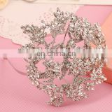 Fancy Handmade Floral Rhinestone Tiara and Crown for Women