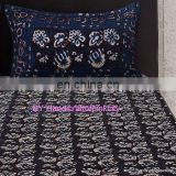 Hand Block Print Bed Sheet Set, Queen Size Throw Bed Speared With 2 Pillow Cas