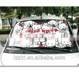 colorful imprint aluminum bubble front car sunshade
