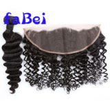 Brazilian human hair weave closure piece with part,deep wave virgin hair bundles with lace closure,cheap hair piece clos