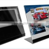 "7"" LCD Advertising video greeting card with acrylic display to advertise your company and your products"