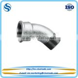 Malleable cast iron male female long sweep bend 45 degree ISO 49 EN 10242 low pressure pipe fitting