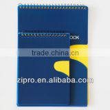 plastic cover spiral note books for school