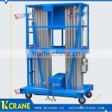 Factory drect sale self-propelled aluminum mast hydraulic lift platform