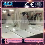ACS toughed glass cover for led dance floor,anti-slip led dance floor, led mirror dance floor for sale