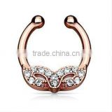 Masked ball 316L surgical steel fake septum clicker nose piercing Body Jewelry