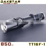 DAKSTAR TT16F-1 XM-L U2 850LM 18650 Aluminum Rechargeable Side Switch Stepless Diming CREE SWAT Police Security Equipment