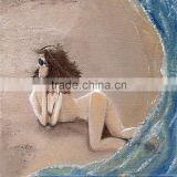 China ShenZhen wholesale high quality low price beach hot sexy nude girl canvas art oil painting