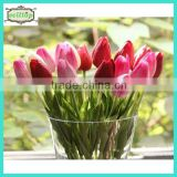 34cm mini pu tulip real touch artificial tulip flower