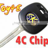 High Quality Transponder Key With 4C Chip(TOY48 Blade) for toyota