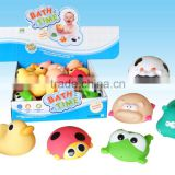 bath toys,samll yellow duck bath toys with different shape and color