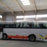 Sales Africa EURO III 9.8m 48 seats low floor luxury bus with front Cum mins engine ZF gearbox