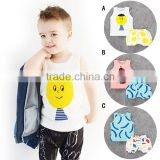 Brand Children Clothing Wholesale C823 Summer Ins Hot Style Baby Clothes Three Color Vest Shorts Suits