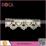 BOKA Chemical Cotton Lace Flower Designs, Crochet Flower Scalloped Lace Trimming