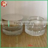 High quality 30g/1OZ cream glass jar with UV silver shiny cap glass jar for face cream TBRS-2