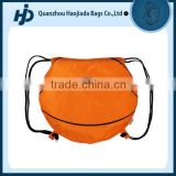 Custom promotional basketball drawstring backpack